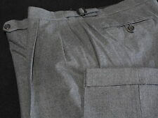 Mint BROOKS BROTHERS Country Club Gray Wool Dress Pants 36 37, Made in Canada