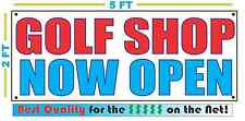 GOLF SHOP NOW OPEN Banner Sign NEW Larger Size Best Quality for the $$$