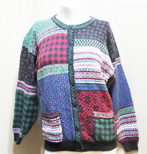 NORTHERN ISLES XMASY FAIR ISLE STYLE CARDIGAN SWEATER SIZE L