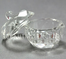 Clear Nail Art Acrylic Crystal Glass Dappen Dish Liquid Powder Container #413C