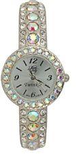 Kirks Folly Fairy Twinkle Bangle Watch-Silvertone-Fits An Average Size Wrist