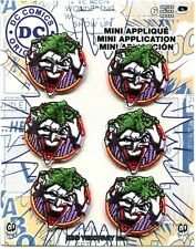 THE JOKER face 6 MINI IRON-ON PATCH SET **Free Shipping* -c pdc132s dc batman