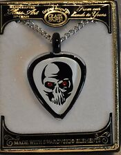 Skull Guitar Pick Necklace Guitar Jewelry