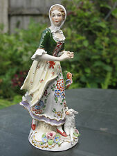 FINE ANTIQUE SITZENDORF PORCELAIN SHEPHERDESS FIGURE GROUP HAND PAINTED