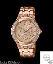 SHE-3809PG-9A Rose Gold Casio Sheen Women Watches Stainless steel Analog New