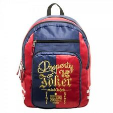 Harley Quinn Suicide Squad Property Of Joker DC Comics Movie School Bag Backpack