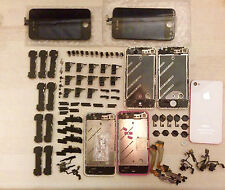 lot of iphone 4 screen , back/front camera , bezel , flats and more parts