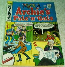 Archie's Pals 'n' Gals 45, FN (6.0) 1968, 50% off Guide!