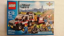 4433 Lego Town City Dirt Bike Transporter SUV & motorcycle minifigure set