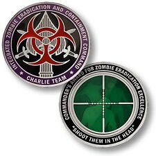 NEW Integrated Zombie Eradication and Containment Command Challenge Coin. 61669