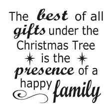 Christmas Holiday STENCIL 12x12 *The best of all gifts..family*for signs crafts