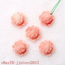 16mm Pink White Shell MOP Flower Shape Gemstone Accessories Loose Beads 1 Pcs