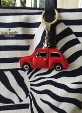 """KATE SPADE NEW YORK """"LEATHER VROOM RED CAR"""" FOB KEY RING/CHAIN, BNWT"""