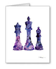 Chess Pieces Note Cards With Envelopes