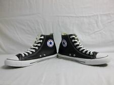 Converse Size 10 M All Star Leather Black High Top Sneakers New Mens Shoes