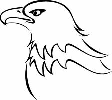 Bald Eagle Head Sticker Decal Graphic Vinyl Label Black