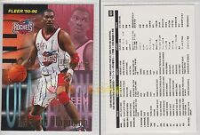 NBA FLEER 1995-1996 SERIES 2 - Hakeem Olajuwon, Rockets # 400 - Mint