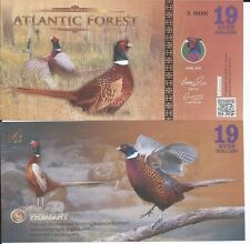 ATLANTIC FOREST BILLETE 19 AVES DOLLARS 2016 SPECIMEN
