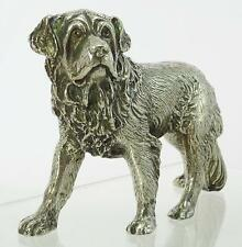 Superb Quality Hand Crafted Silver Plate St Bernard Dog. Paperweight. NICE1