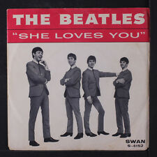 BEATLES: She Loves You / I'll Get You 45 (PS, 'don't drop out' on label, black