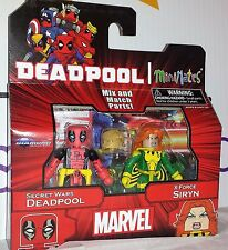 Marvel MiniMates Series 65 Secret Wars Deadpool X-Force Siryn Diamond Figure Set