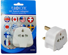 UK Travel Tourist Adapter 3 Pin Plug For USA Europe Asia Africa Australia to uk