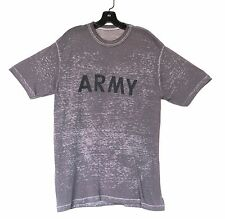 paper thin vintage t shirt ARMY distressed burnout sheer tshirt, tee t-shirt L