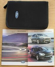 FORD GALAXY S-MAX HANDBOOK OWNERS MANUAL WALLET + BLANK SERVICE BOOK 2015-2017