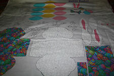 DREAMSPINNERS V.I.P. COTTON FABRIC PANEL EASTER EGGS BUNNY BASKET