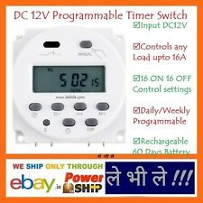 E91 DC 12V Daily Weekly Programmable Electronic Digital Timer 16A Relay Switch