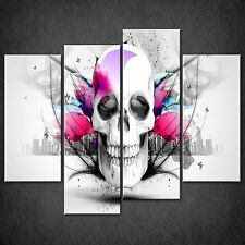ABSTRACT SKULL SPLIT CANVAS WALL ART PICTURES PRINTS LARGER SIZES AVAILABLE
