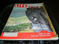 LIFE Magazine 4/25/1960 LOVER'S LEAP, TOURIST AT TENNESSEE NATURAL WONDER