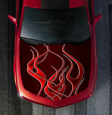 H39 FIRE FLAMES TRIBAL Hood Wrap Wraps Decal Sticker Tint Vinyl Image Graphic