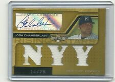 2008 Triple Threads JOBA CHAMBERLAIN RC Jersey / auto 14/75