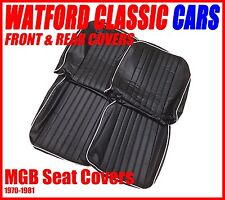 MGB Roadster and GT  Seat Covers 1970 -1981 Black/White Does a PAIR of seats .