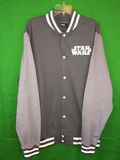 Star Wars Gray Varsity Fleece Jacket New With Tags Size XXL Gift