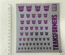 Transformers Hasbro Decepticons flag stickers stock