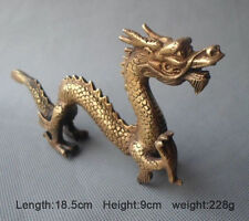 china folk collecton ! copper Carved Lucky Dragon Statue
