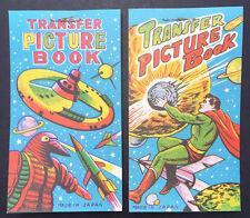 1950s Japan SPACE  SUPERHERO 2 Books of Transfers