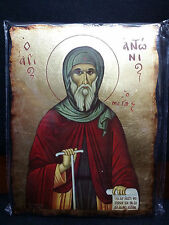 Saint Anthony the Great St Antony of Egypt Antonios Greek Orthodox Icon 20x26cm