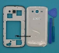 For Samsung Galaxy Grand GT-i9082 i9080 White Housing Middle Frame Battery Cover