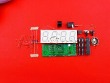 "DIY Kit 0.8"" Digital Green LED Electronic Microcontroller Clock Time Thermometer"