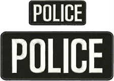 POLICE  patches 4x10 and 2x5 velcro on back white letters