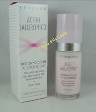 ERBOLARIO Acide Hyaluronique CONTOUR DES YEUX triple action 30ml anti-rides
