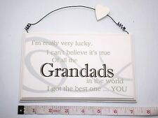 Lucky Grandad Wall Plaque Sign Fathers Day Gift Ideas For Him & Grandparents
