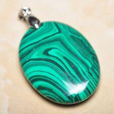 """Handmade Unique Malachite Jasper 925 Sterling Silver Clasp Pendant 1.75"""" #P09869"""