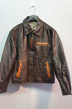 VINTAGE TUAREG COMPANY LEATHER JACKET SIZE M MADE IN ITALY