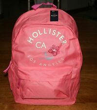 NWT Hollister by Abercrombie Classic Backpack Hollister CA Logo and a Flower
