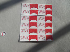 20 WATER SLIDE NAIL ART  DECALS TRANSFERS CHRISTMAS RED SNOWFLAKE FRENCH TIPS