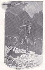 A3612) R. GUARDIA DI FINANZA  AL CIPPO DI CONFINE. ILLUSTRATORE Q. CENNI 1903.